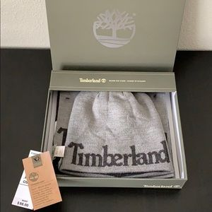Timberland Men's Scarf and Hat Set in Gift Box